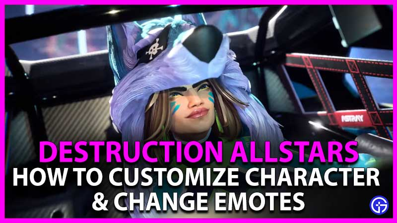 Destruction AllStars How to Customize Character & Change Emotes