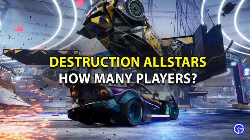Destruction Allstars how many players