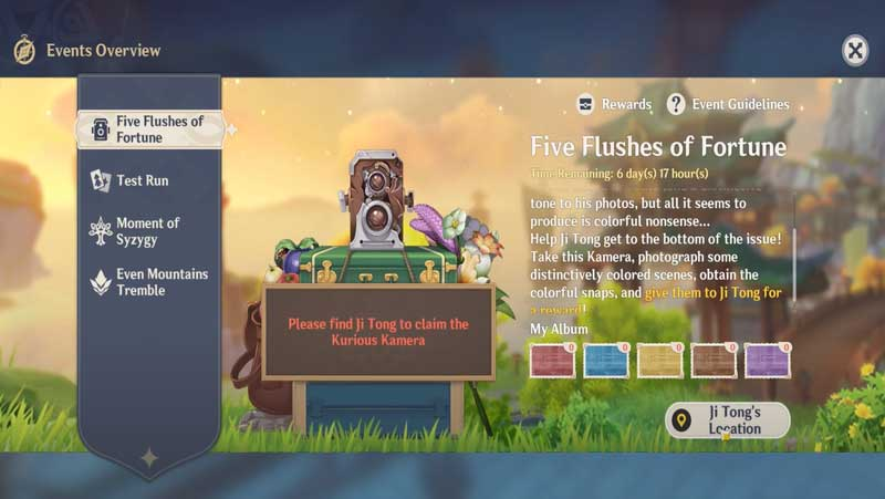Five Flushes Of Fortune Guide