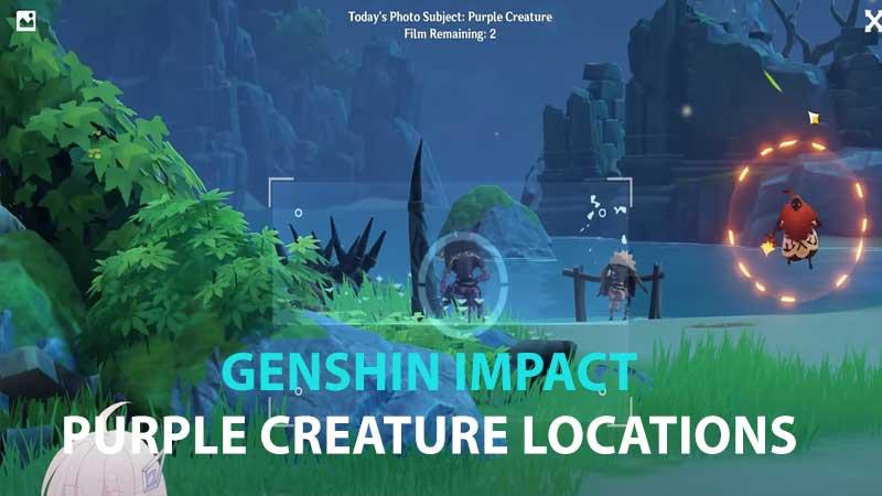 Genshin Impact Purple Creature Locations