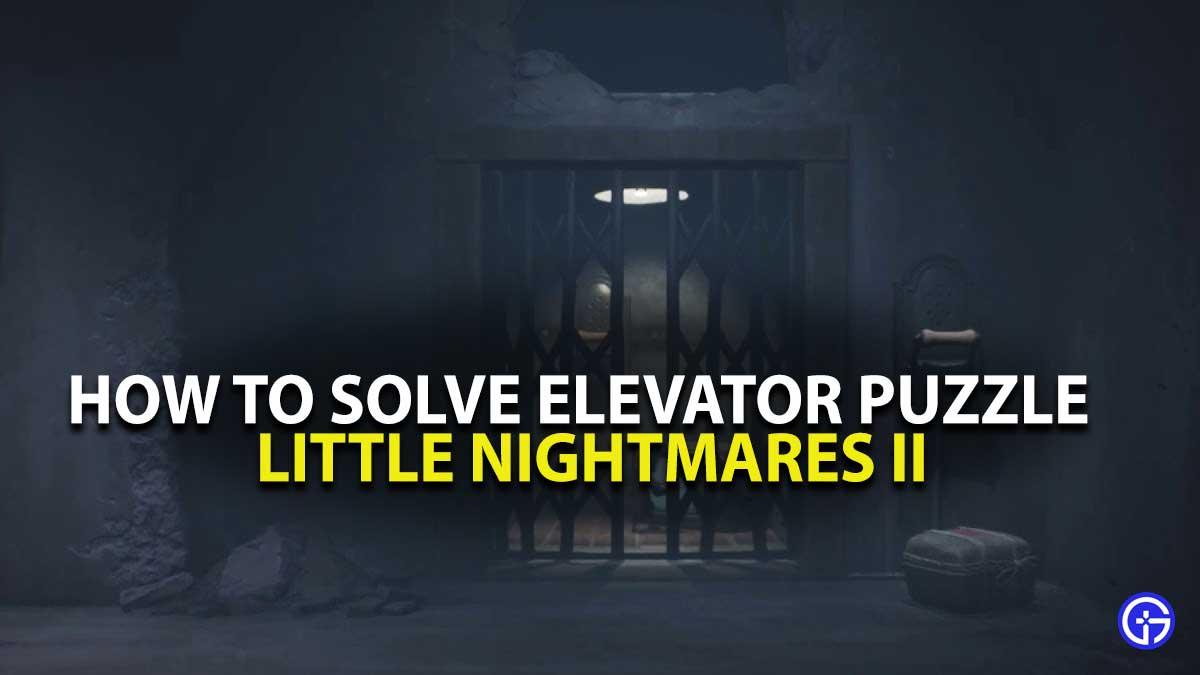 Little Nightmares 2 Elevator Puzzle