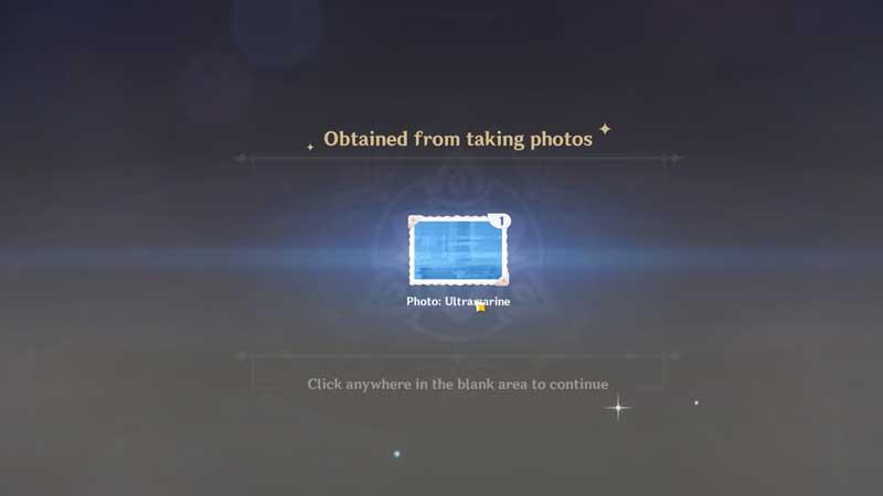 Genshin Impact 1.3 Photo Guide