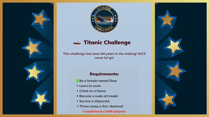 Titanic challenge Bitlife