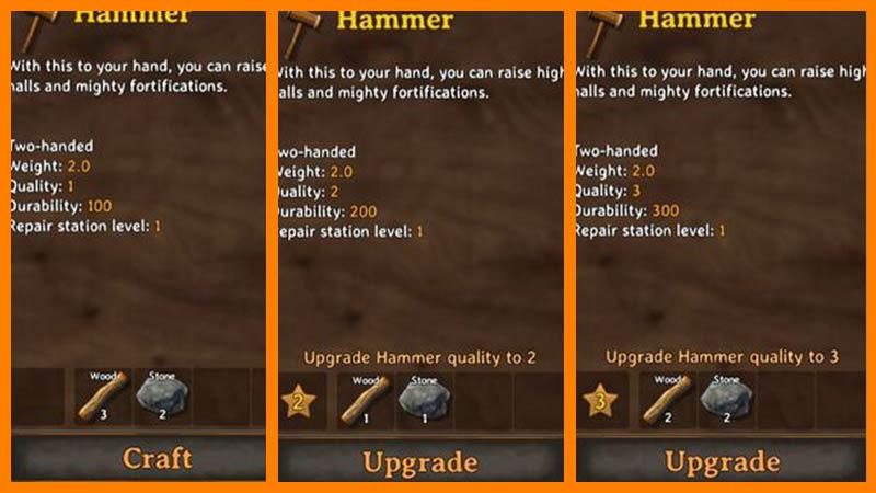 Upgrade Hammer Valheim
