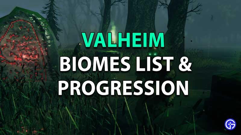 valheim biomes list progression guide