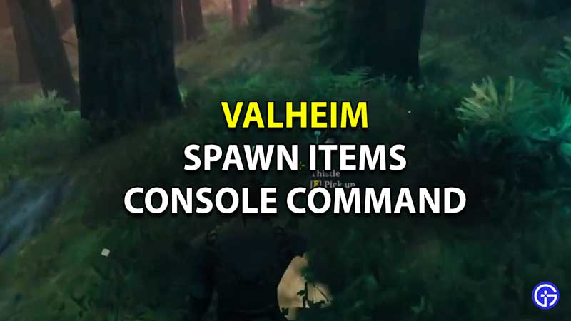 Valheim Console Commands Spawn Items