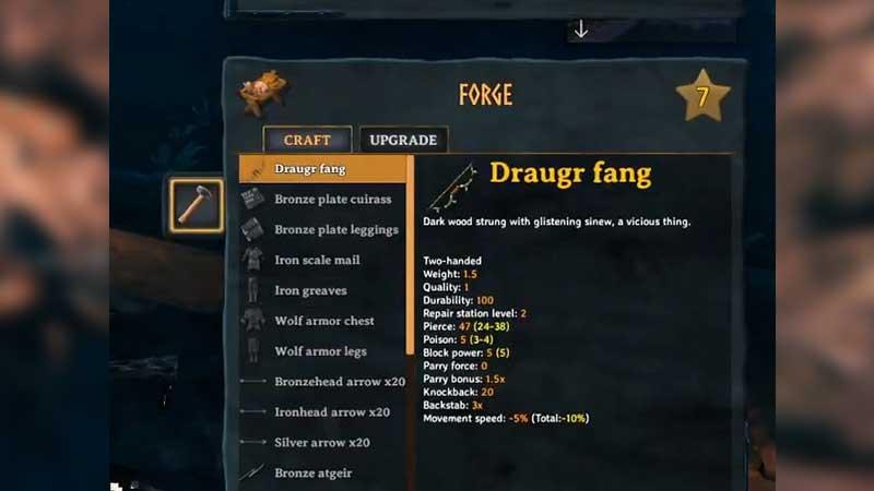 Valheim Draugr Fang Bow