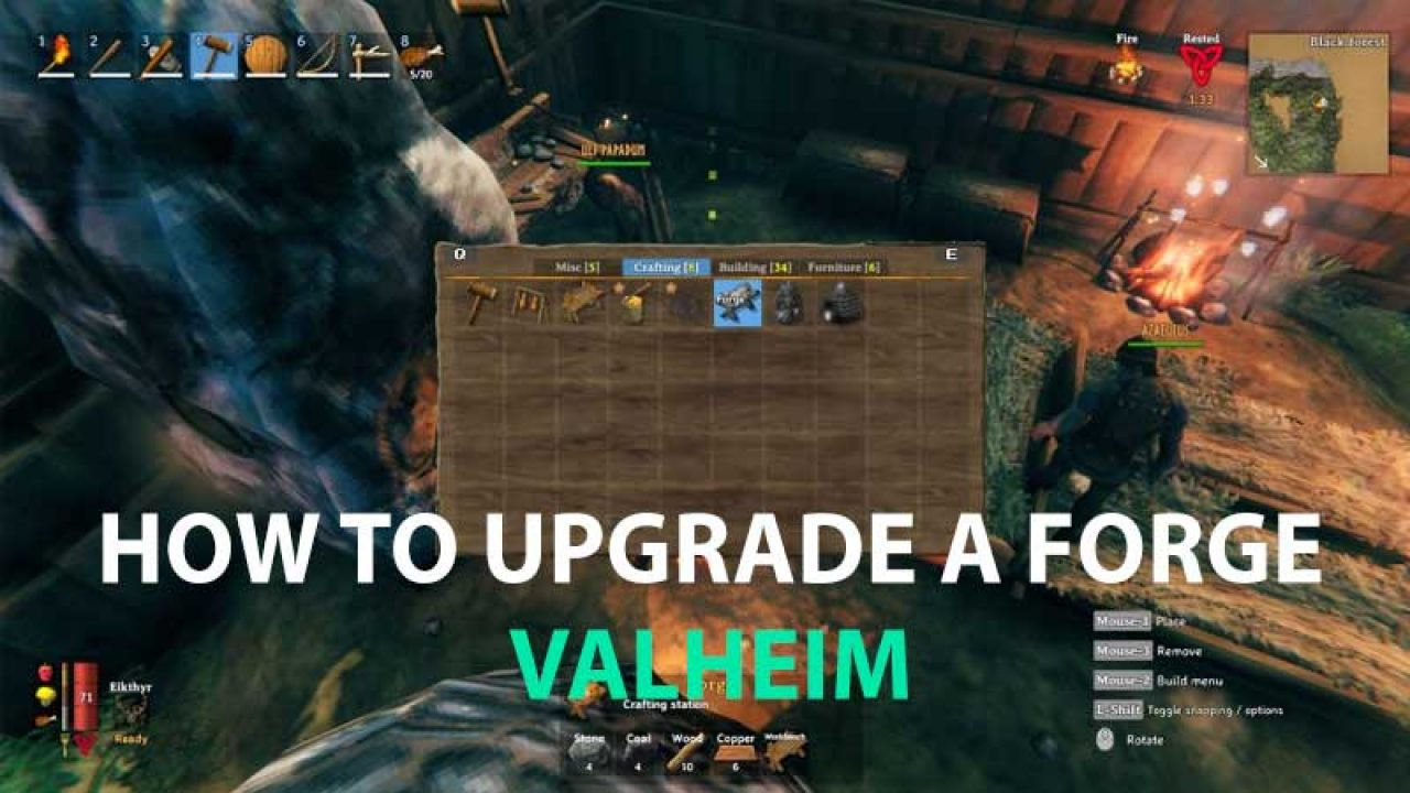 Valheim Forge Upgrade Guide How To Build Upgrade Forge To Level 6
