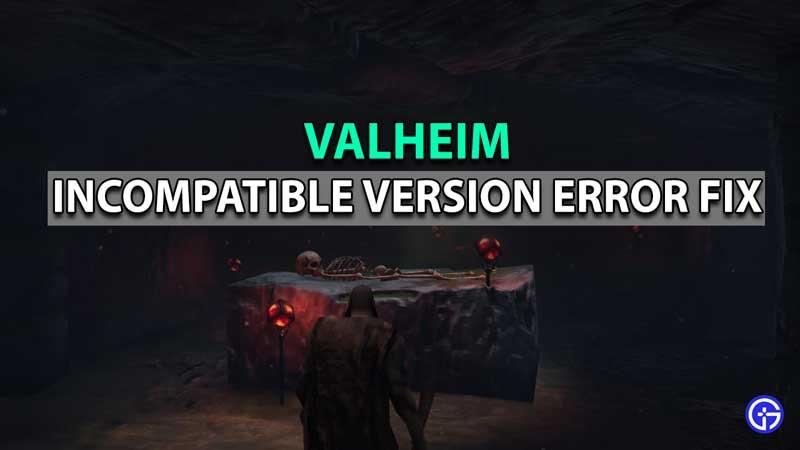 Valheim Incompatible Version Error Fix