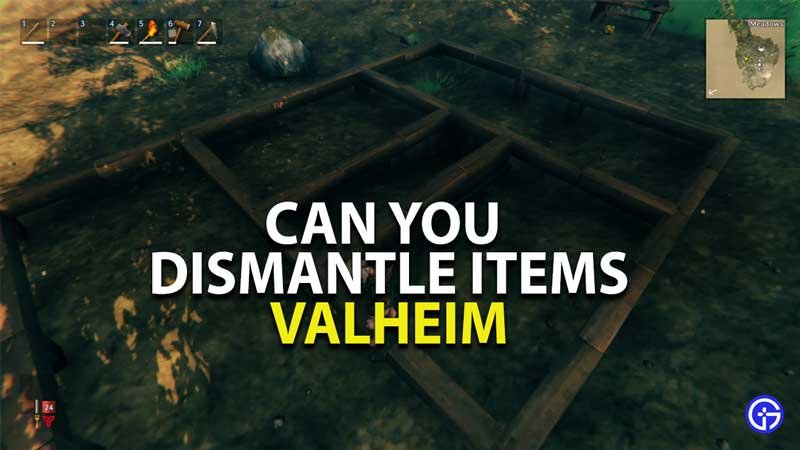 can you dismantle items in valheim