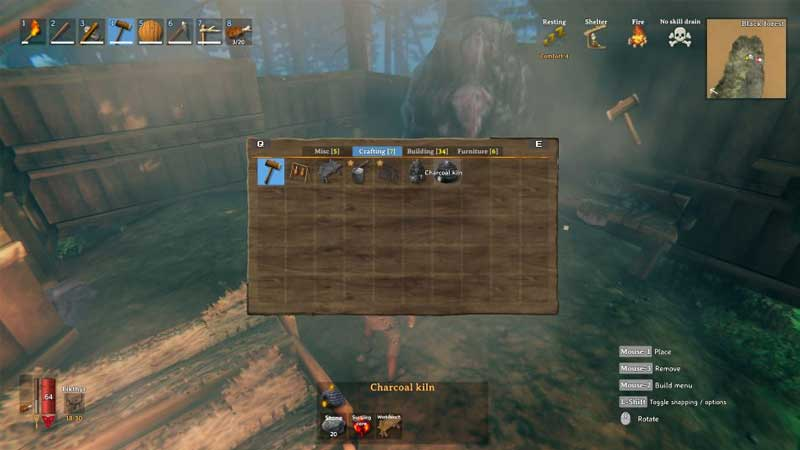 how to unlock and make a charcoal kiln in valheim