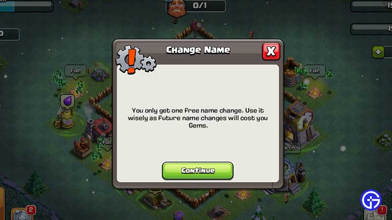 clash of clans profile name