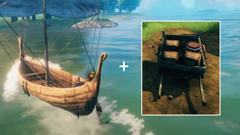 how to carry resources back to base valheim