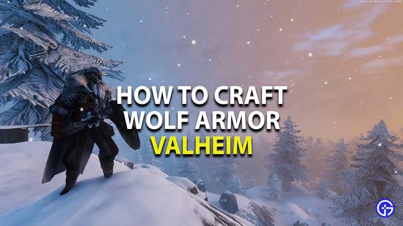 how to craft wolf armor in valheim