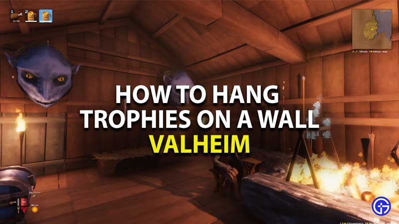 how to hang trophies on a wall in valheim
