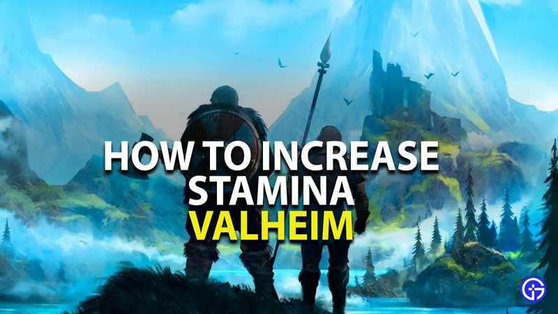 how to increase stamina in valheim