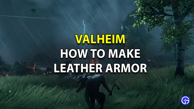 how to make and craft leather armor valheim