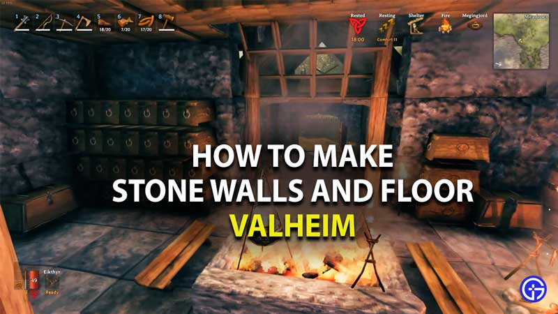 how to make stone walls and floors in valheim