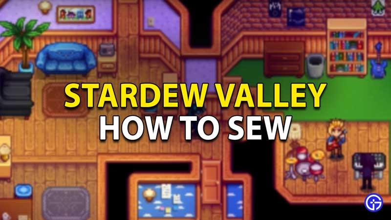 Stardew Valley Sew Clothes