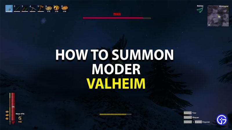 how to summon moder in valheim