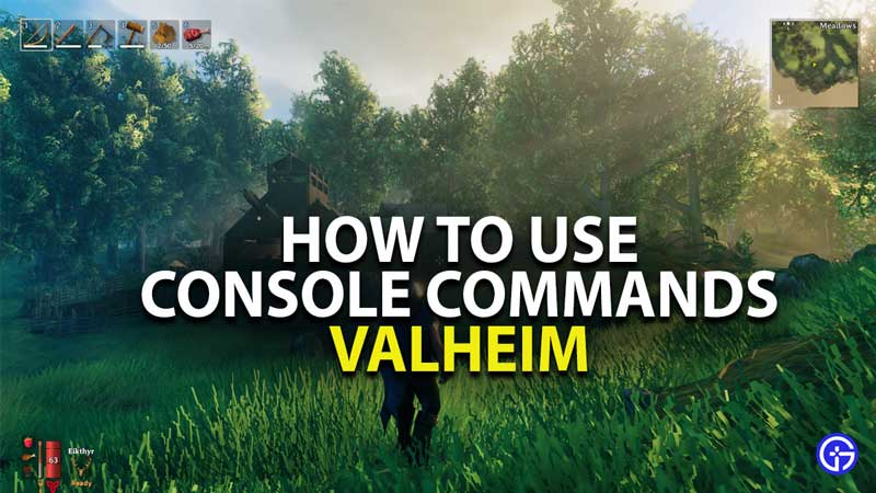how to use console commands in valheim