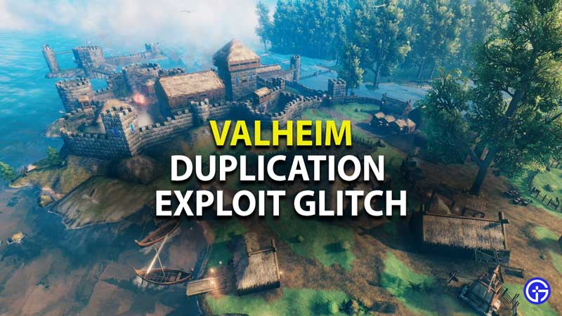how to use duplication exploit glitch in valheim