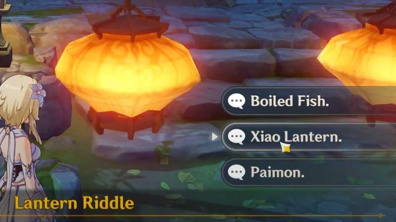 Genshin Impact Lantern Riddle 1 Answer