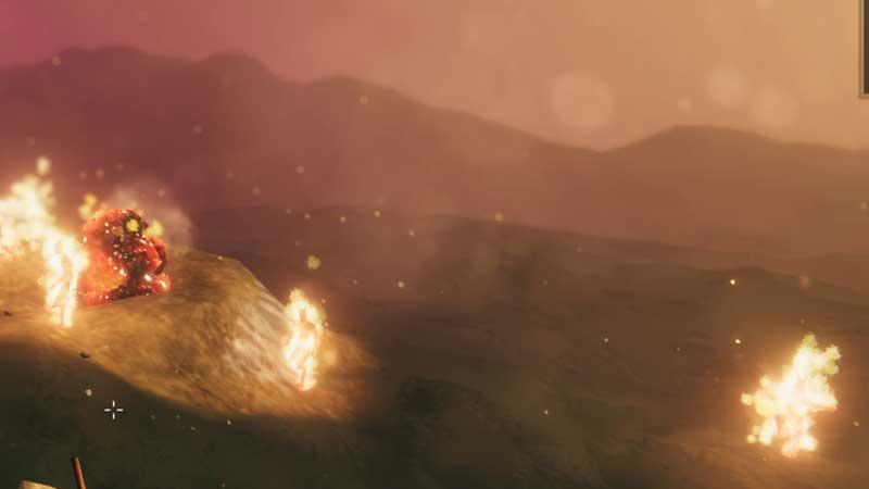 mine glowing metal piles rock valheim ashlands