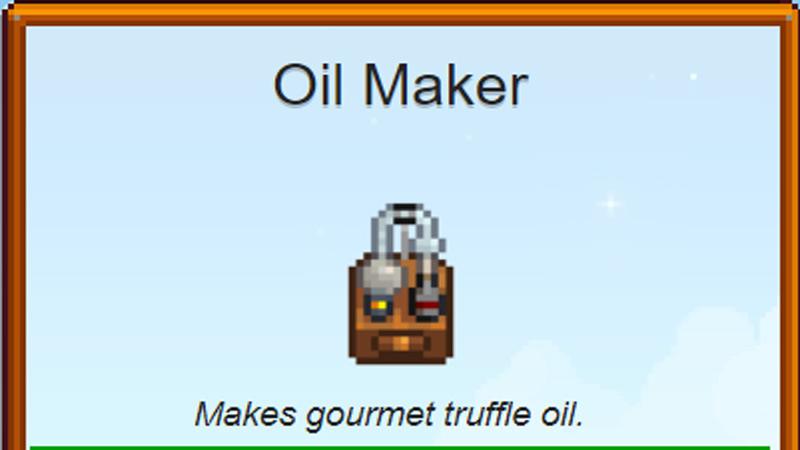 Oil Maker in Stardew Valley