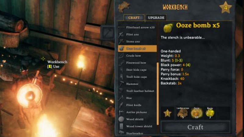 Make an Ooze Bomb in Valheim
