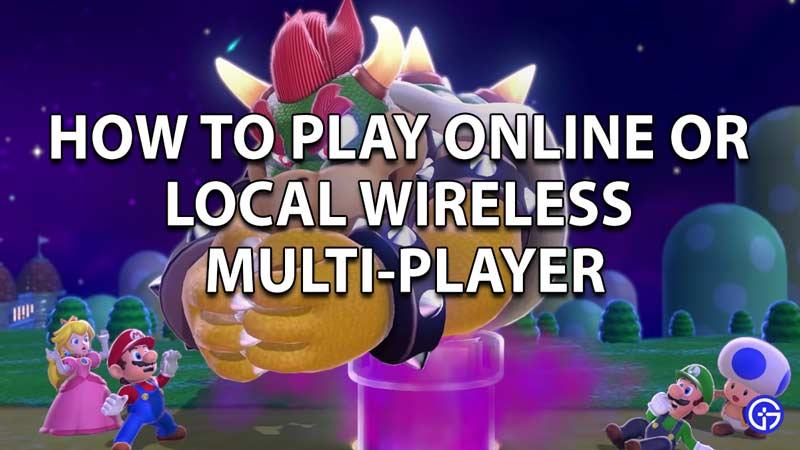 How to play online or local wireless multiplayer