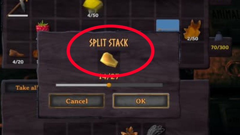 How to Split Stacks in Valheim?