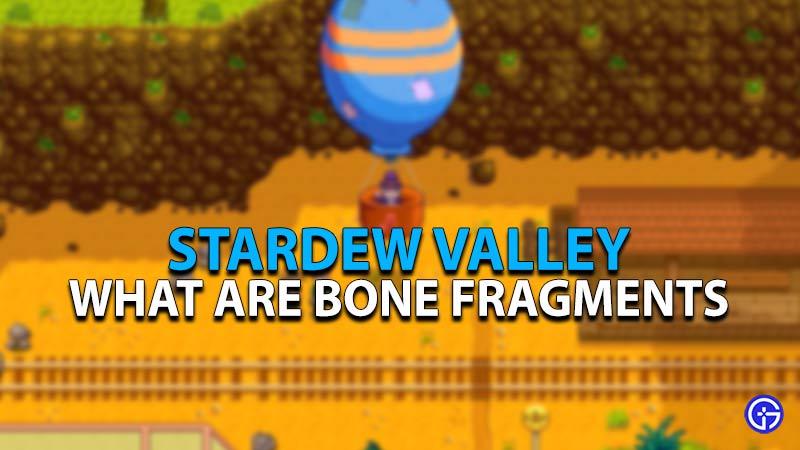 How to get Bone Fragments in Stardew Valley