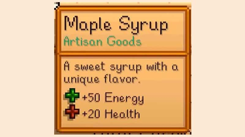 Stardew Valley Maple Syrup Crafting