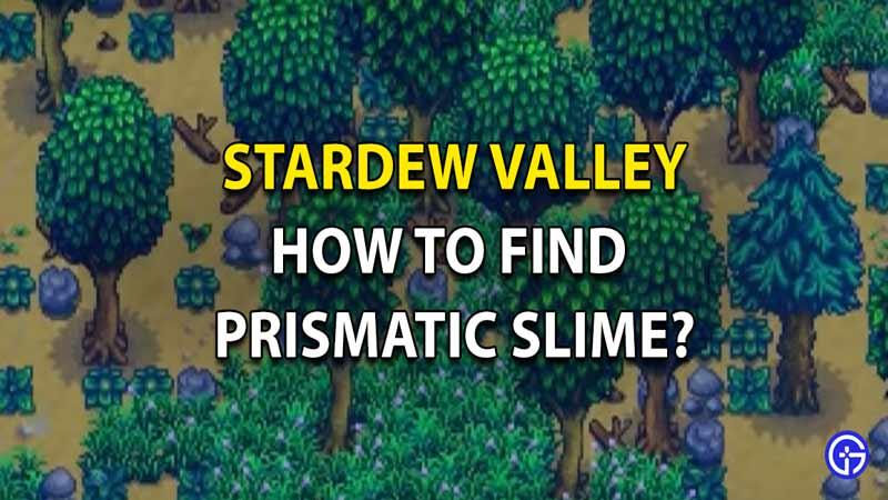 Prismatic Slimes in Stardew Valley