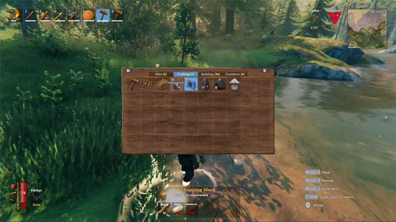 how to use chopping block in valheim