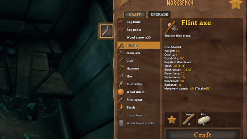 use Flint to craft weapons and tools