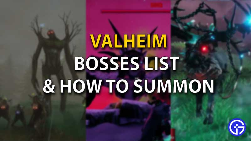 all valheim bosses list how to summon