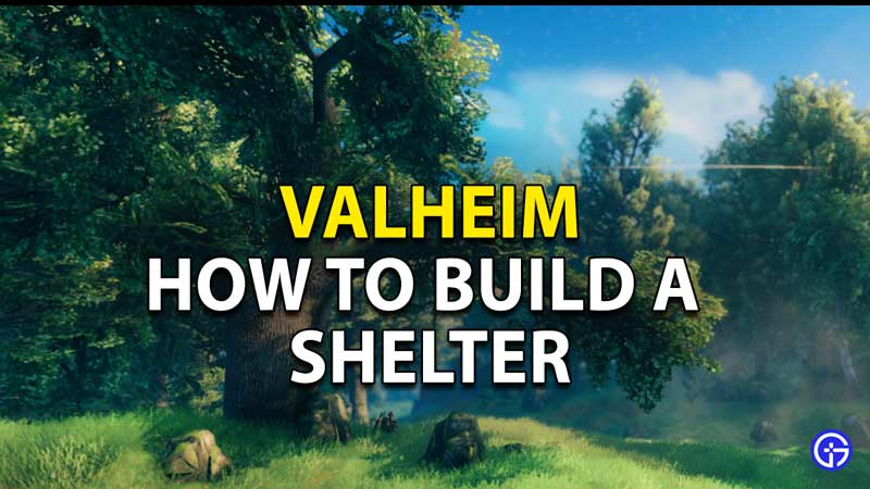 How to build a Shelter in Valheim?