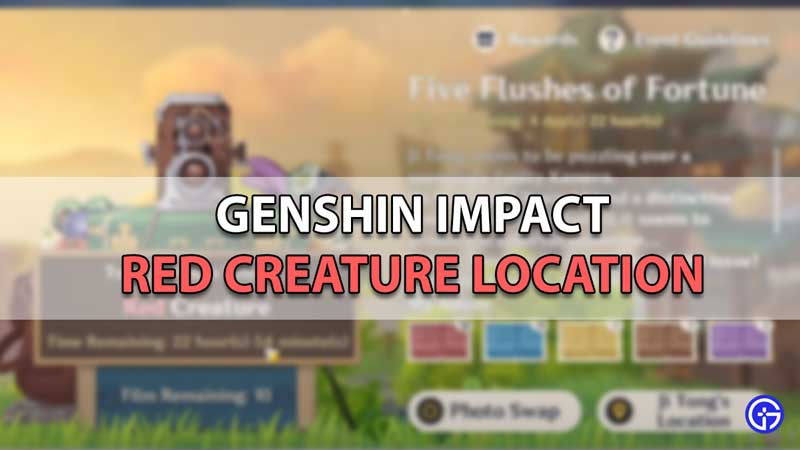 where to find red creatures genshin impact