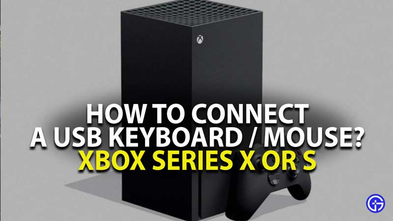Xbox Series X USB Keyboard Mouse