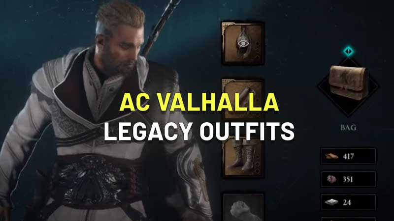 AC Valhalla Legacy Outfits how to get