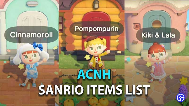 How to Get Sanrio and Hello Kitty Items in ACNH
