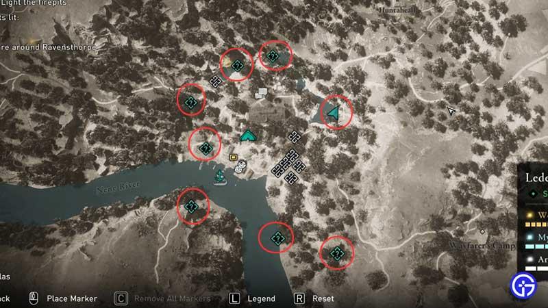 All 8 Firepit Locations Valhalla