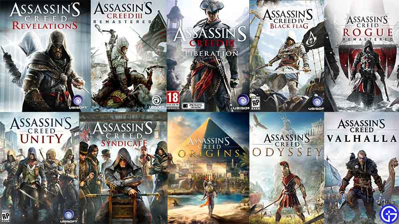 All Assassin's Creed Games in Chronological Order
