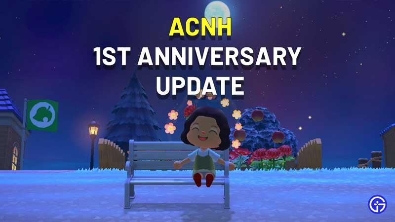 Animal Crossing New Horizons 1st Anniversary Update Guide