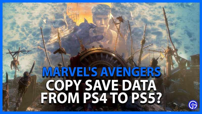 Avengers Data PS4 PS5