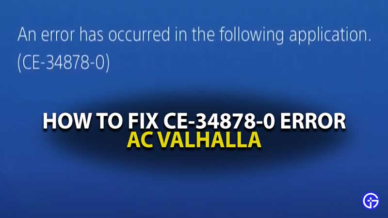 CE-34878-0 Error AC VALHHALA ERROR