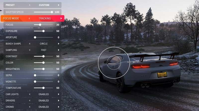 Forza Horizon 4 Photo Mode settings