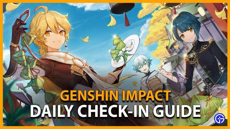 genshin impact daily check in